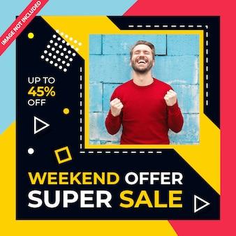 Super sale banner psd