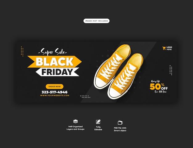 Super sale black friday facebook cover banner vorlage Kostenlosen PSD