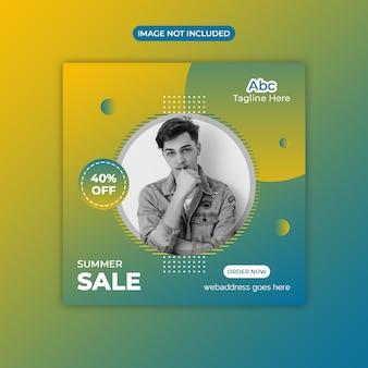 Super sale social media banner
