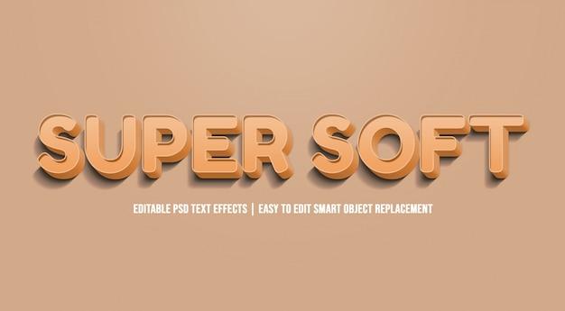 Super soft text effekt premium psd