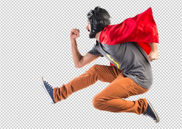 Superheld läuft schnell