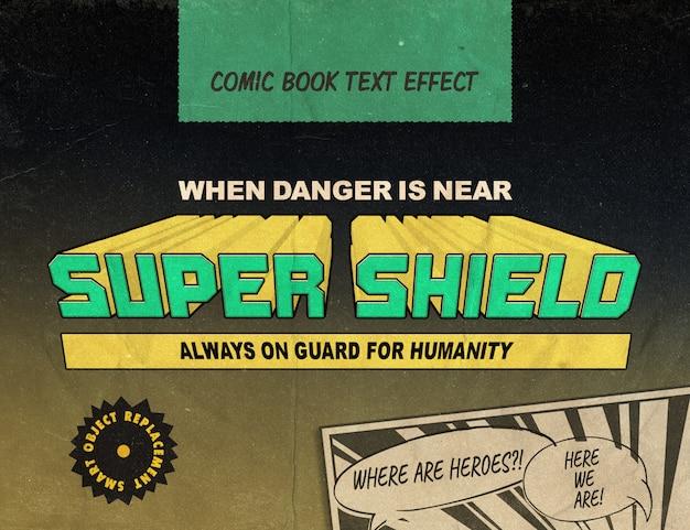 Superhelden-comics: vintage-textstil