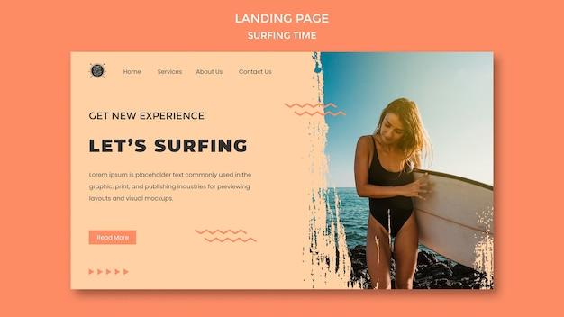 Surf concept landing page vorlage