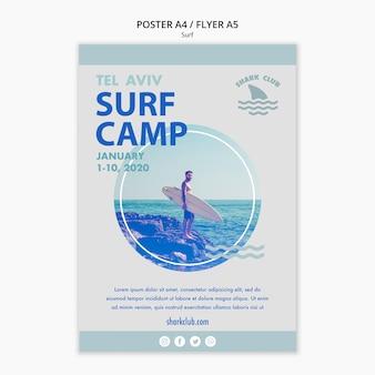 Surf poster vorlage stil