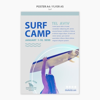 Surf poster vorlage