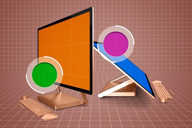 Surface studio zoom in mockup