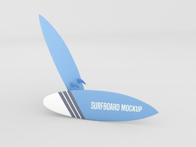Surfboard mockup set auf weißem hintergrund