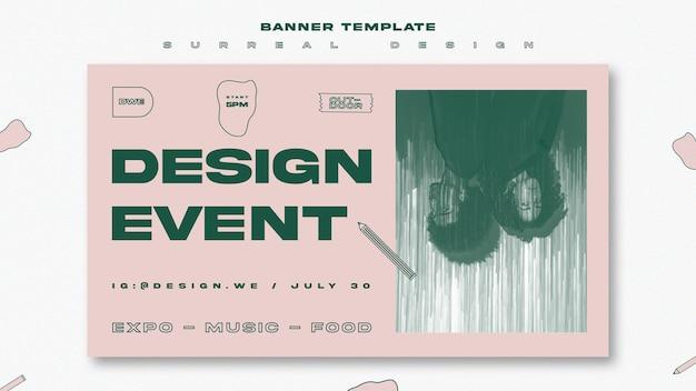 Surreale designplakatschablone