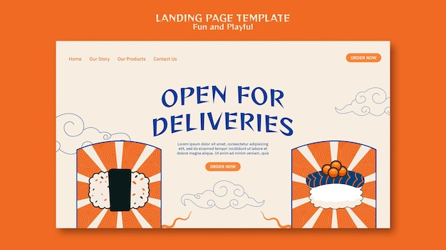 Sushi bar landing page vorlage