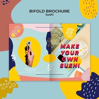 Sushi bifold broschüre vorlage