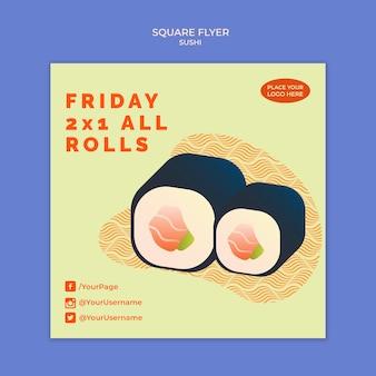 Sushi flyer vorlage konzept