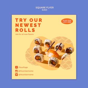 Sushi flyer vorlage thema