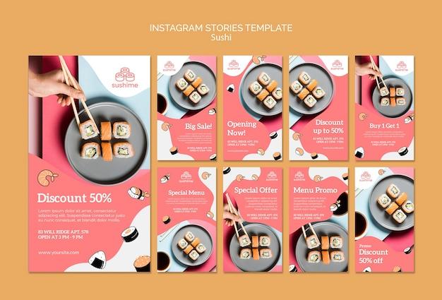 Sushi instagram geschichten vorlage