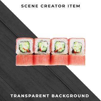 Sushi isoliert mit beschneidungspfad.