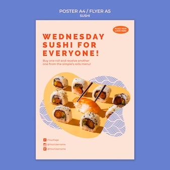 Sushi poster vorlage thema