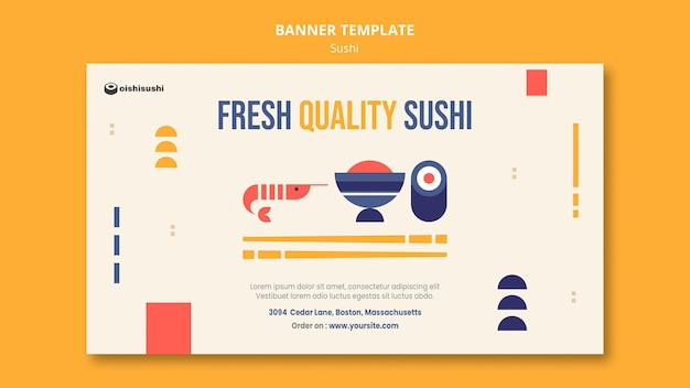 Sushi restaurant banner vorlage