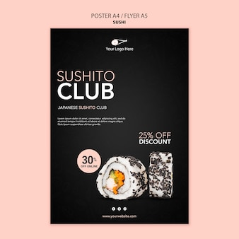 Sushi restaurant poster vorlage