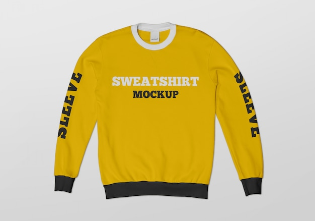 Sweatshirt-modell mit rundhalsausschnitt