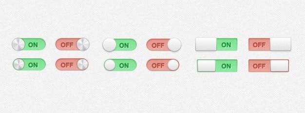 Switches und schaltet psd material