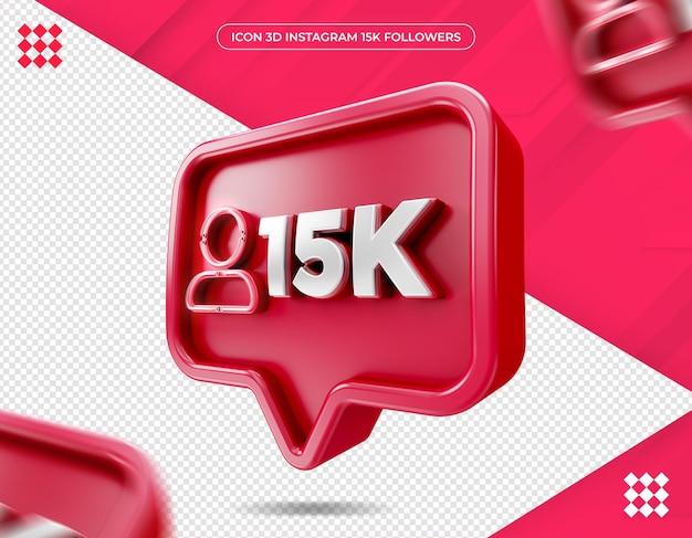 Symbol 15k follower auf instagram design