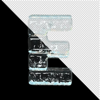 Symbol aus der sammlung von eis. 3d-buchstabe e