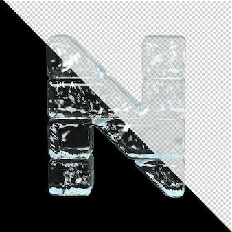 Symbol aus der sammlung von eis. 3d-buchstabe n