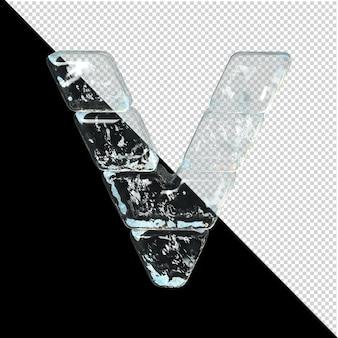 Symbol aus der sammlung von eis. 3d-buchstabe v