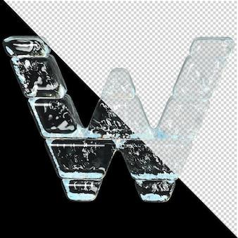 Symbol aus der sammlung von eis. 3d-buchstabe w
