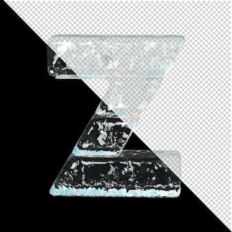 Symbol aus der sammlung von eis. 3d-buchstabe z