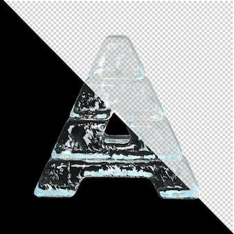 Symbol aus der sammlung von eis. 3d-buchstabe