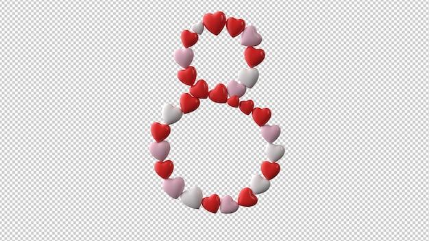 Symbol des internationalen frauentags in der 3d-darstellung