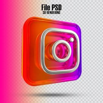Symbol instagram 3d-rendering