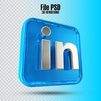 Symbol linkedin 3d-rendering