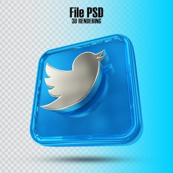 Symbol twitter 3d-rendering