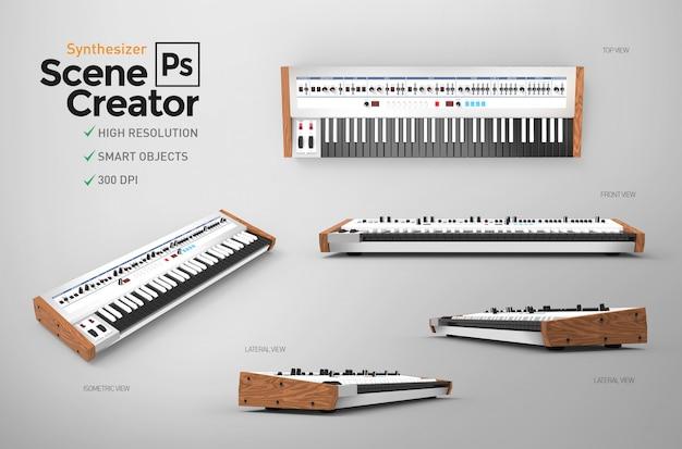 Synthesizer. szenenersteller. 3d