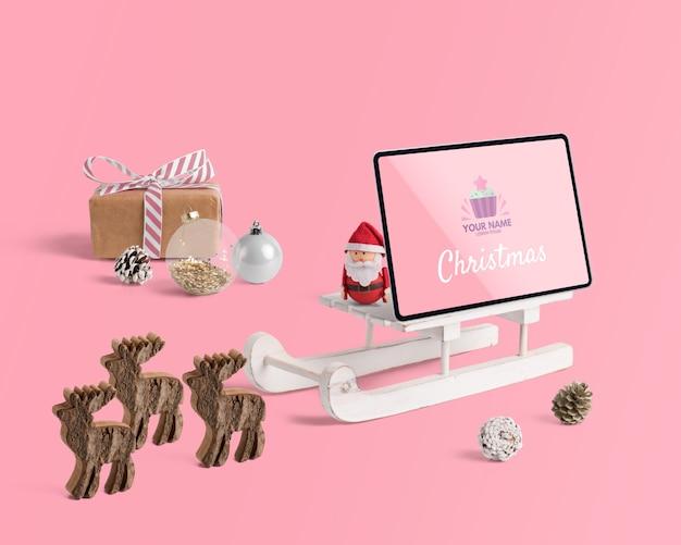 Szenenschöpfermodell mit weihnachtskonzept