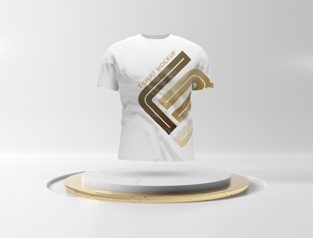 T-shirt auf bühnenpodestmodell