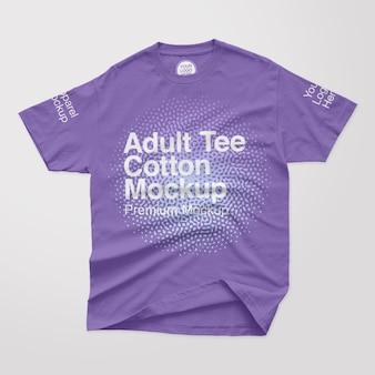 T-shirt aus baumwolle für erwachsene
