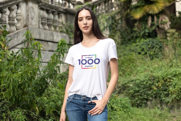 T-shirt mock-up Kostenlosen PSD