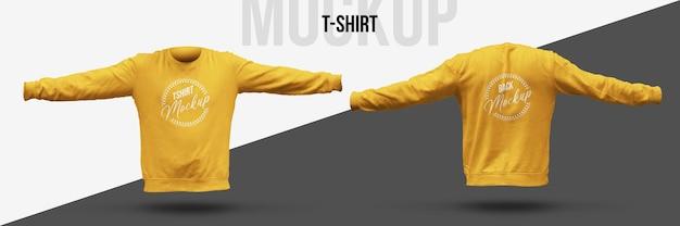 T-shirt mockup isolierte vorder- und rückansicht