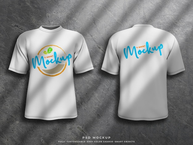 T-shirt mockup siebdruck mockup auf 3d gerenderten t-shirt jersey vorder- und rückseite