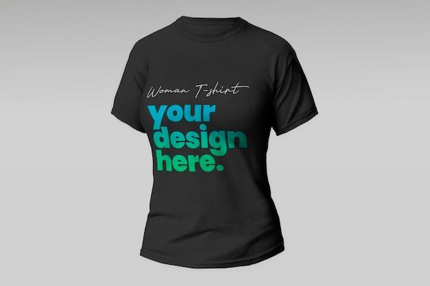 T-shirt-modell der schwarzen frau