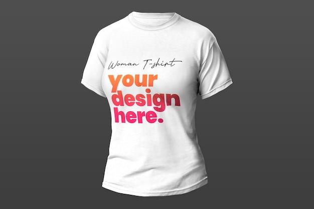 T-shirt-modell der weißen frau