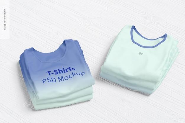 T-shirts mockup, gestapelt