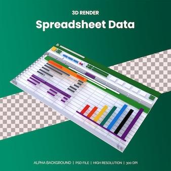Tabelle mit daten, finanzbuchhaltungsbericht. buchhaltung, analyse, prüfung, projektmanagement Premium PSD
