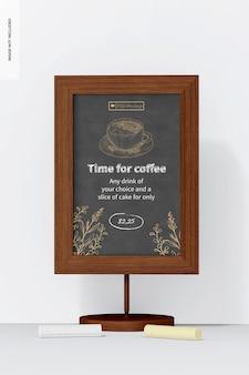 Table board sign mockup, vorderansicht