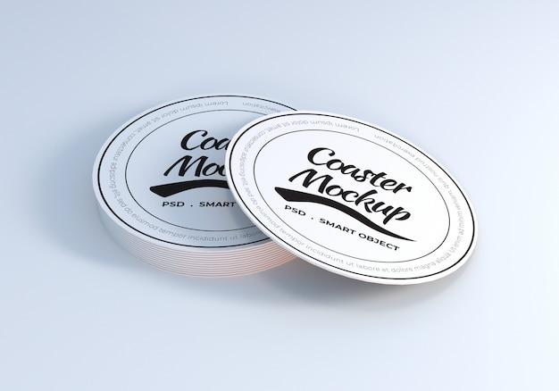 Table coaster mockup design vorlage