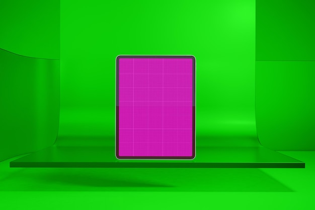 Tablet auf glas
