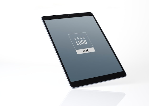Tablet-mockup-design im vollbildmodus