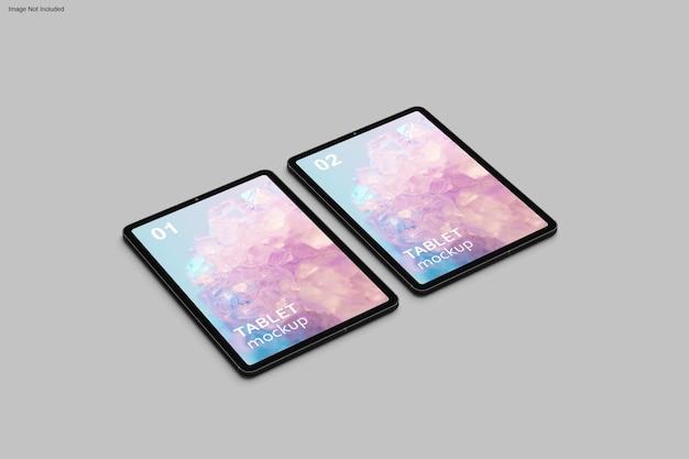 Tablet-mockup-design in 3d-rendering